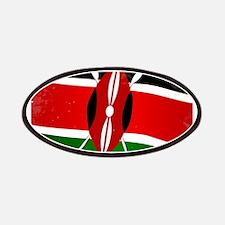 Kenya Flag Grunge Patch