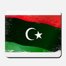 Libya Flag Grunge Mousepad