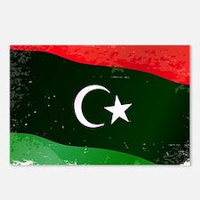 Libya Flag Grunge Postcards (Package of 8)