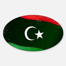 Libya Flag Grunge Decal