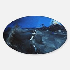 storm approach in dark water Decal