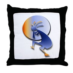 Kokopelli Orb #1 Throw Pillow