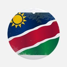 Namibia Flag Grunge Round Ornament