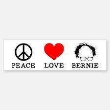 Peace Love Bernie Bumper Bumper Bumper Sticker