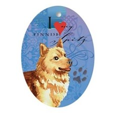 Finnish Spitz Oval Ornament