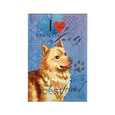 Finnish Spitz Rectangle Magnet