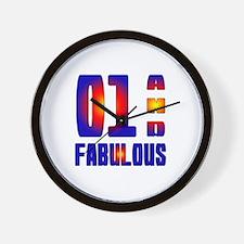 01 and Fabulous Wall Clock