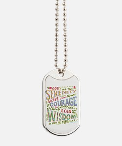 Serenity Prayer - hand lettered Dog Tags