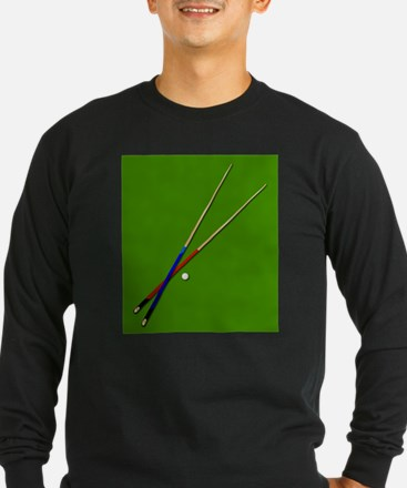 Snooker Cues Long Sleeve T-Shirt