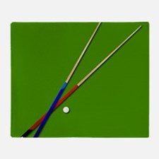 Snooker Cues Throw Blanket