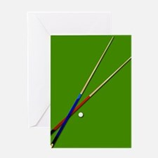 Snooker Cues Greeting Cards