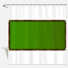 Snooker Table Markings Shower Curtain