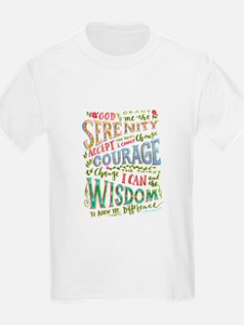 Serenity Prayer - hand lettered T-Shirt