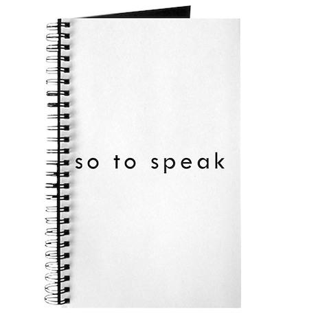 So To Speak Journal