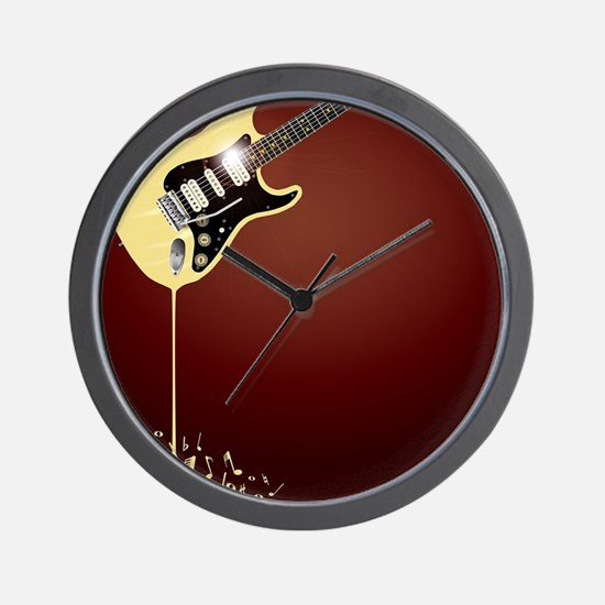Fluid Guitar Wall Clock