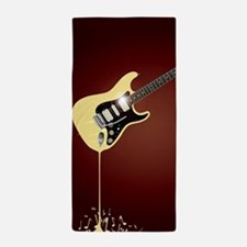 Fluid Guitar Beach Towel