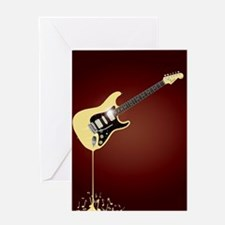 Fluid Guitar Greeting Cards