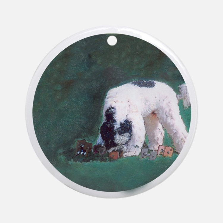 Portuguese Water Dog Obedience Ornament (Round)
