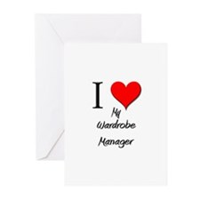 I Love My Wardrobe Manager Greeting Cards (Pk of 1