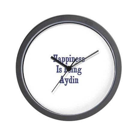 Happiness is being Aydin Wall Clock