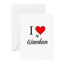I Love My Warden Greeting Cards (Pk of 10)