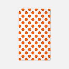 Orange Polka Dots Area Rug