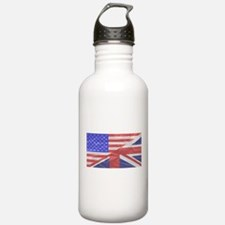 Union Jack and Stars a Water Bottle