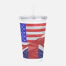 Union Jack and Stars a Acrylic Double-wall Tumbler