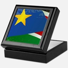 South Sudan Grunge Flag Keepsake Box