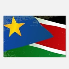 South Sudan Grunge Flag Postcards (Package of 8)