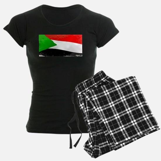 Sudan Grunge Flag Pajamas