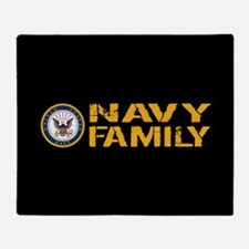 U.S. Navy: Navy Family (Black) Throw Blanket