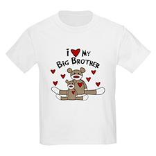 Love BIG Brother SOCK Monkey T-Shirt