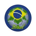 """Futebol Brasileiro 3.5"""" Button (100 pack)"""