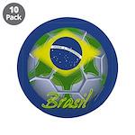 """Futebol Brasileiro 3.5"""" Button (10 pack)"""