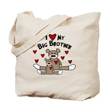 Love Little Brother SOCK Monkey Tote Bag