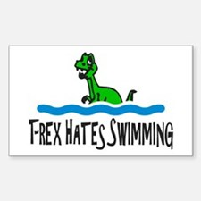 T Rex Hates Swimming Decal