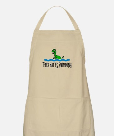 T Rex Hates Swimming Apron
