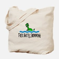 T Rex Hates Swimming Tote Bag