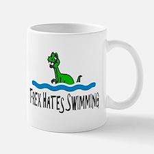 T Rex Hates Swimming Mugs