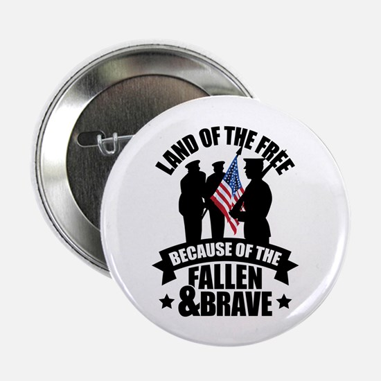 "Fallen & Brave 2.25"" Button (10 pack)"
