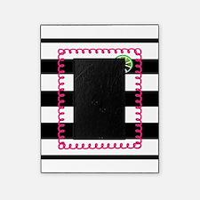 Pink Cocktail Black Stripes Picture Frame