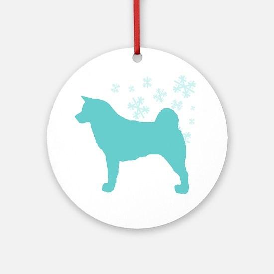 Akita Snowflake Ornament (Round)