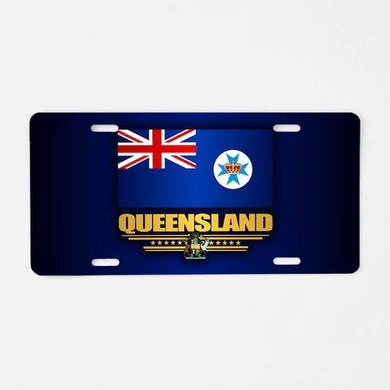 Queensland Flag Aluminum License Plate