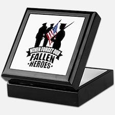 Never Forget Fallen Keepsake Box