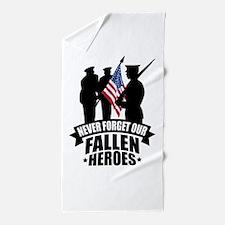 Never Forget Fallen Beach Towel