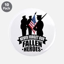 "Never Forget Fallen 3.5"" Button (10 pack)"