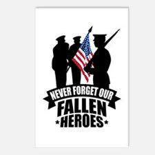 Never Forget Fallen Postcards (Package of 8)