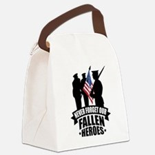 Never Forget Fallen Canvas Lunch Bag