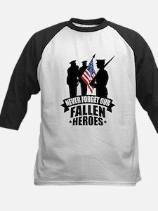 Never Forget Fallen Kids Baseball Jersey